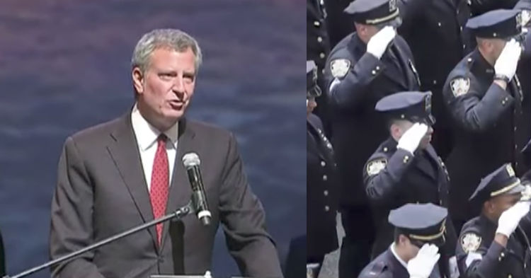 Mayor Bill DeBlasio Thinks Cops Like Him. Wait Until You See How They Embarrass Him In Public