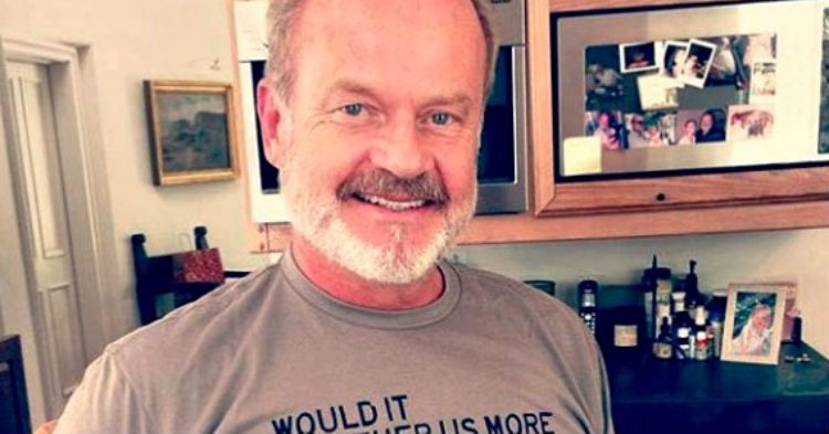 Kelsey Grammer Is Sending The Internet Into A Frenzy After Posting Photo Wearing T-Shirt (photo)