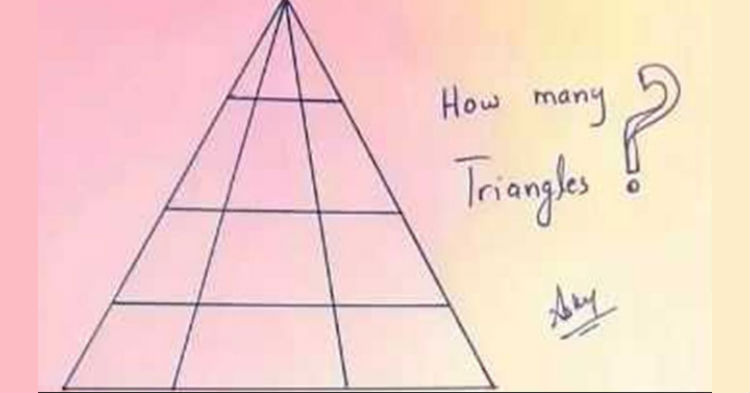 Will You Be The First Person To Correctly Count The Number Of Triangles In Photo? (see answer)