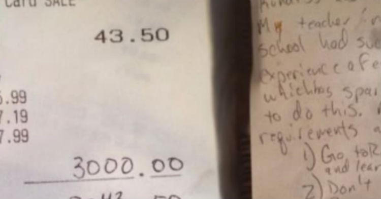 Waitress Going Through A Tough Time Gets $3,000 Tip. But It Comes With Note Listing 3 Rules