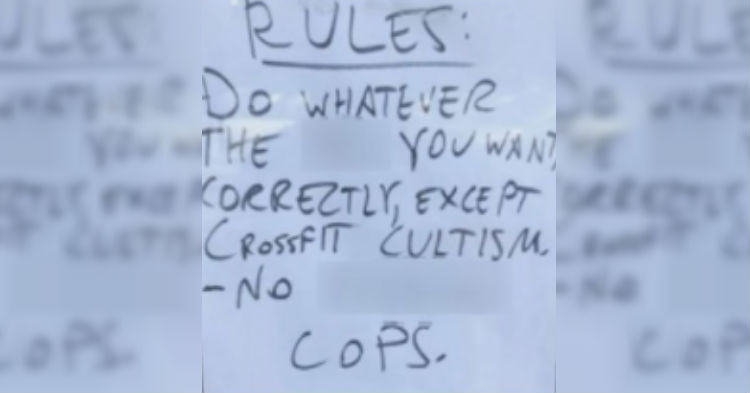 Gym Posts Offensive Anti-Cop Message. Nearby Business Doesn't Hesitate, Takes Swift Action