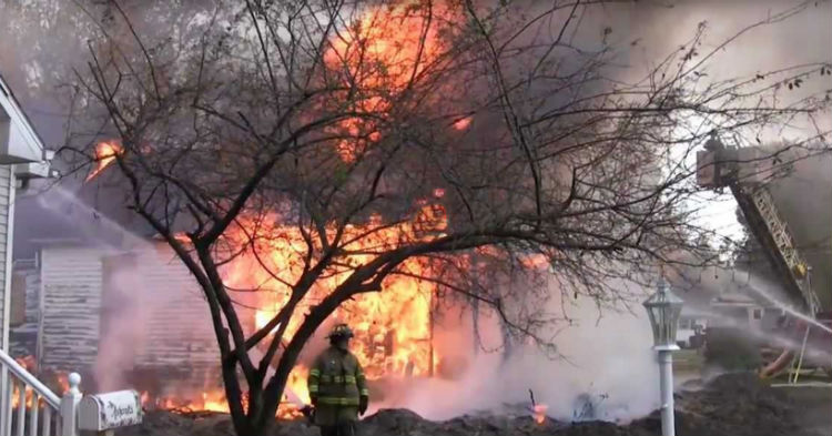 Firefighters Purposely Set House Up In A Massive Blaze After Discovering What's Inside