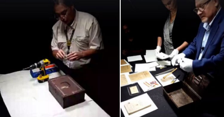 Experts Finally Figure Out How To Open 150-Year-Old Confederacy Time Capsule, Film What's Inside