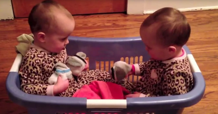 Mom Finds Twins In The Laundry Basket, Their Conversation Has The Internet In Stitches (video)
