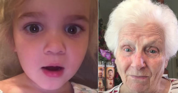 Toddler Calls Grandma For Advice, Her Reaction Has Our Stomach's Hurting From Laughter