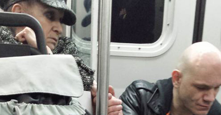 Large Drug Addict Terrorized Train Riders, Then A 70-Year-Old Grandma Grabs His Hand