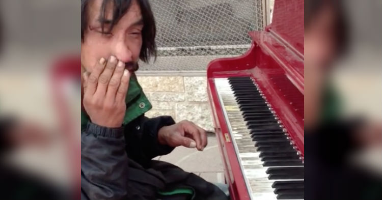 People Chuckle When They See Homeless Guy Sit At Piano, Find Out He's The Next Beethoven