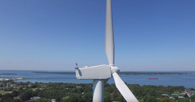 He Heard Rumors, So He Flew Drone To The Top Of A Wind Turbine. Spots Odd Scene, Goes Viral