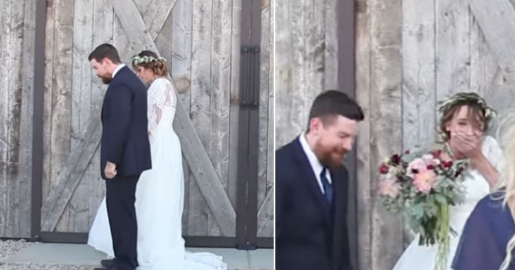 Bride Is Clueless To Surprise Maid Of Honor Has, Turns Around When She Hears Odd Noise