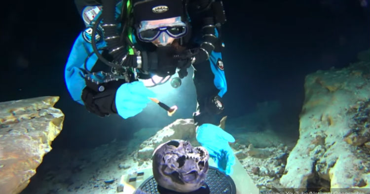 Diver Finds Skull Inside A Cave In The Ocean, Will Help To Re-Write History As We Know It