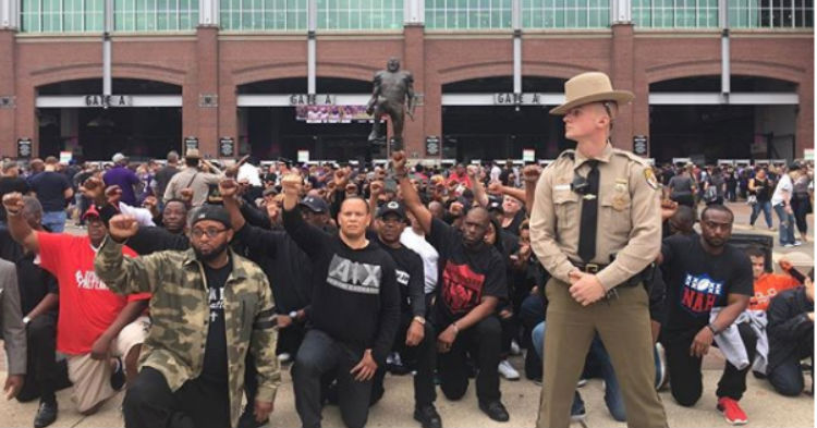 While NFL Players Refused To Stand, A Story Few Know About Is Happening Outside The Stadium