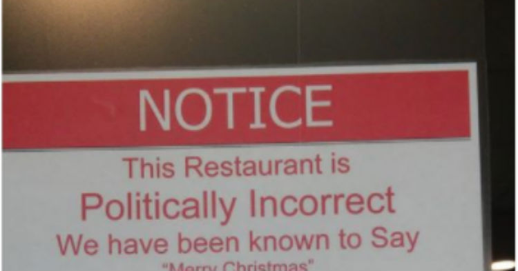 Store Owner Hangs Sign, Causes Uproar From The Left; Refuses To Take It Down Or Apologize