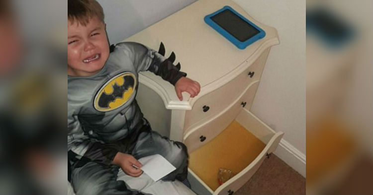 Mom Makes Stomach Churning Find Inside Toddler's Dresser Drawer, Dad Can't Stop Laughing