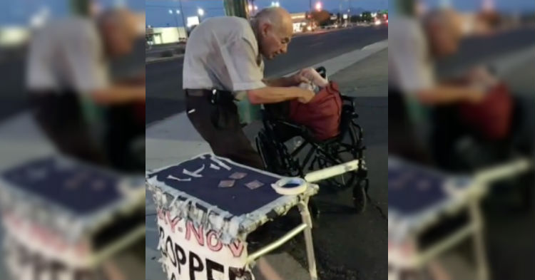 Woman Sees Old Man Sitting Alone On The Corner Every Night, Finally Asks Him Why