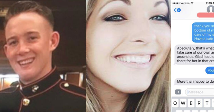 Marine Risks His Life To Save Girl He Met During Las Vegas Shooting, Gets Text Message Next Day