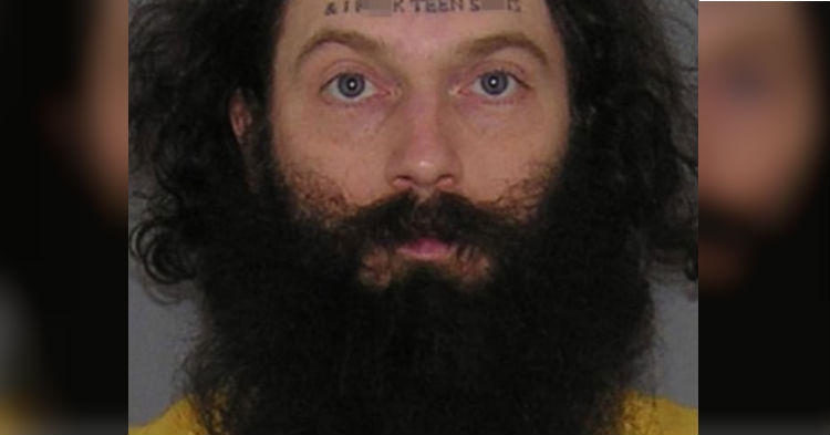Man Arrested For Vile Crime, But Shouldn't Be A Surprise After Seeing Tattoo He Has On Forehead