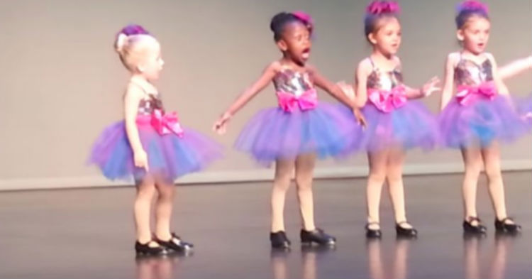 Dance Recital For Little Girls Doesn't Go As Planned, Leaves The Audience Is Stitches