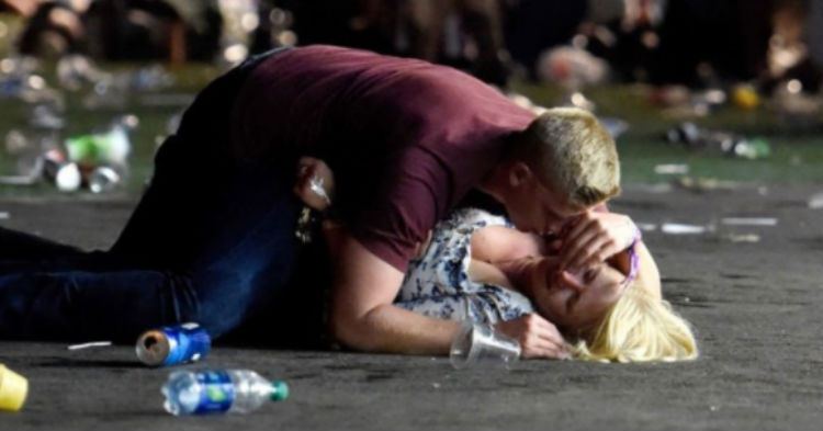 Photo Of Man Using Body To Shield Stranger From Vegas Shooter Went Viral, Then We Learn His Identity