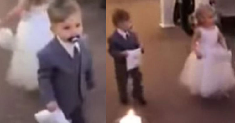 Ring Bearer Makes It Halfway Down The Aisle When He Does A Move That Has The Internet Reeling