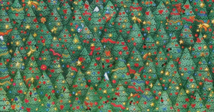 Christmas Puzzle Is Leaving People All Over Stumped, Can You Spot The Red Robin?
