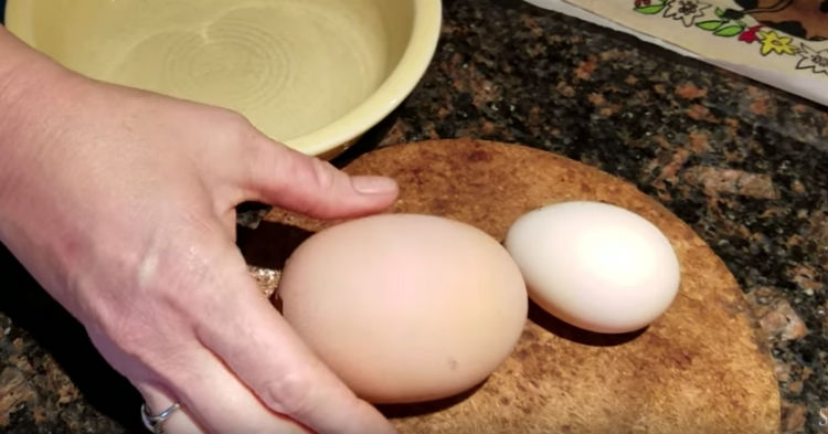 She Was Surprised To Find Such A Large Egg Under Her Hen, Cracks It Open To Strange Find